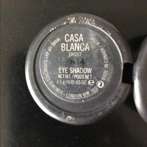 MAC Casa Blanca eyeshadow. Great as a base!